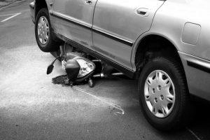 motorcycle under car